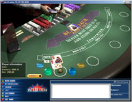 Online Casino Intercasino - Single Player Blackjack